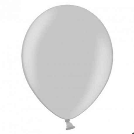 100 Ballons de baudruche gris clair 27 cm