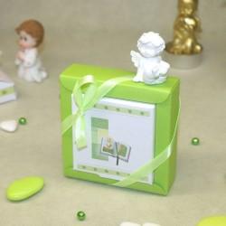 Boite à dragées communion Bible verte