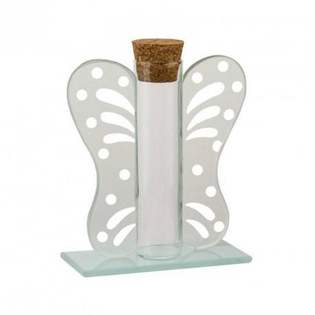 12 Contenants dragées éprouvette papillon