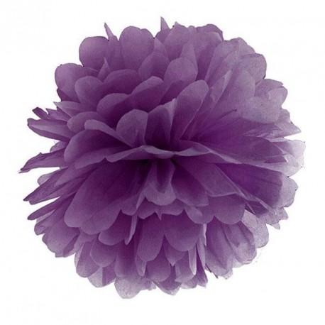 Pompon bleu violet 35 cm