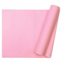 Chemin de table uni rose