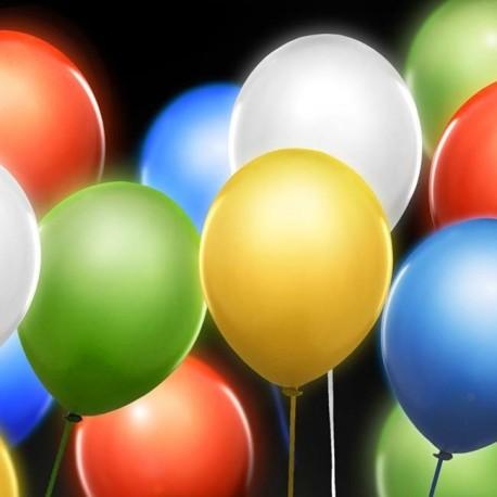 5 Ballons à led de couleur