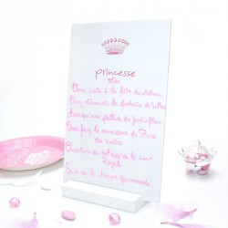 Menu  centre de table Princesse