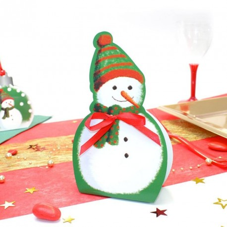 Ballotin Noël bonhomme de neige