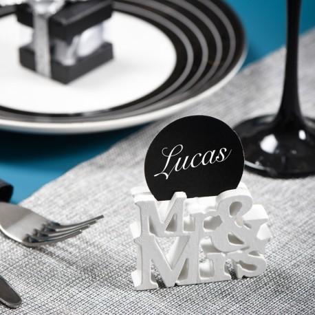 Marque place blanc thème Mr & Mrs