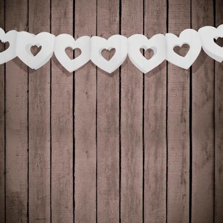 Guirlande mariage cœur blanc