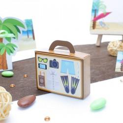Contenant dragées valise vacance