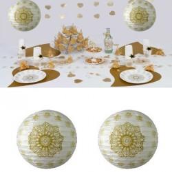 2 Lampions oriental or 30 cm
