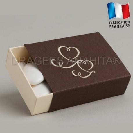 Emballage à dragées ivoire chocolat