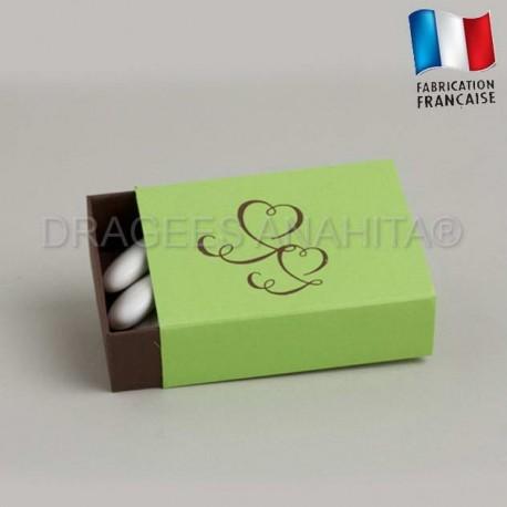 Emballage à dragées chocolat anis