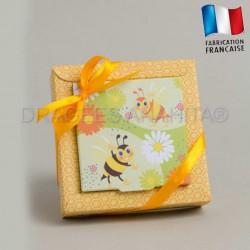 Contenant à dragées thème abeille