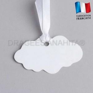 Etiquette à dragées en forme de nuage