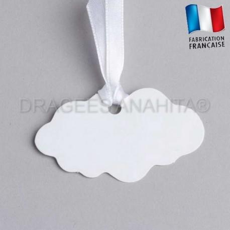 Etiquette en forme de nuage
