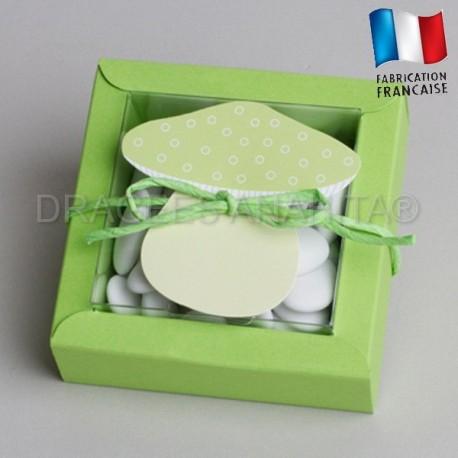 boite à dragées champignons vert