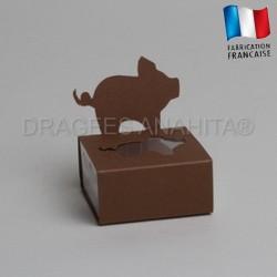 Dragées bapteme porcinet chocolat