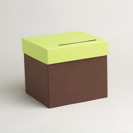 Urne de couleur chocolat et vert