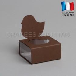 Dragées baptême poussin chocolat