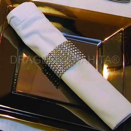 Rond serviette strass diamant par 4