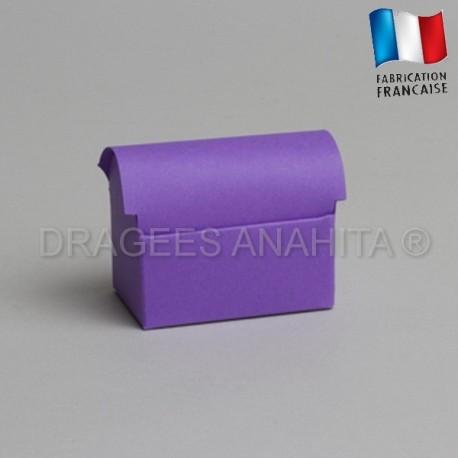 Mini coffre à dragées lilas