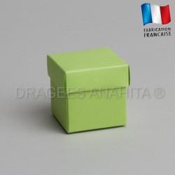 Cube uni à dragées vert