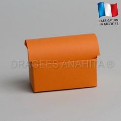 Coffre à dragées orange