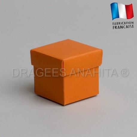 Cube uni à dragées orange