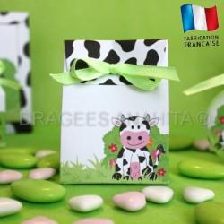 Pochon pour dragées thème vache