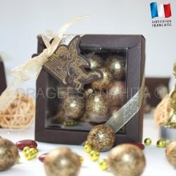 Boite pour dragées ange chocolat