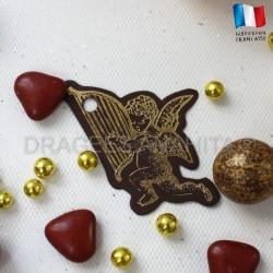 Etiquette dragées ange chocolat