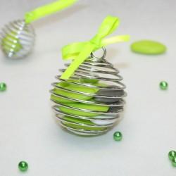 Boule à dragées Spirale métal