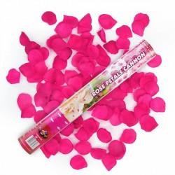 Canon à conféttis pétales de rose fuchsia