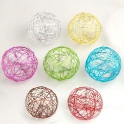 4 Boules de métal 9 cm