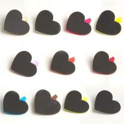 Marque place coeur GM avec pince de couleur