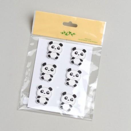 6 Stickers Panda