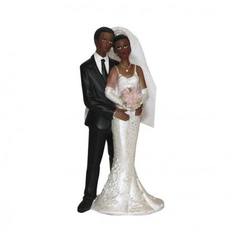 Figurine pour gateau couple noir