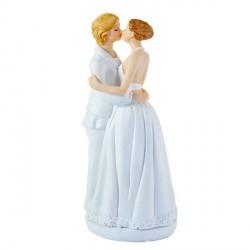 Couple de mariées lesbiennes pour gateau