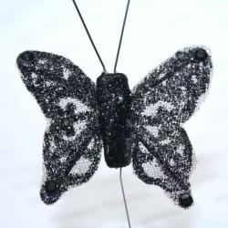 Papillon noir pailleté