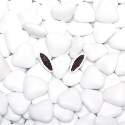 Dragées coeur chocolat blanc