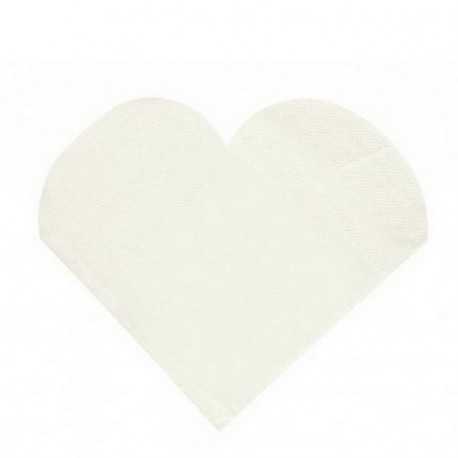 20 serviettes de table coeur