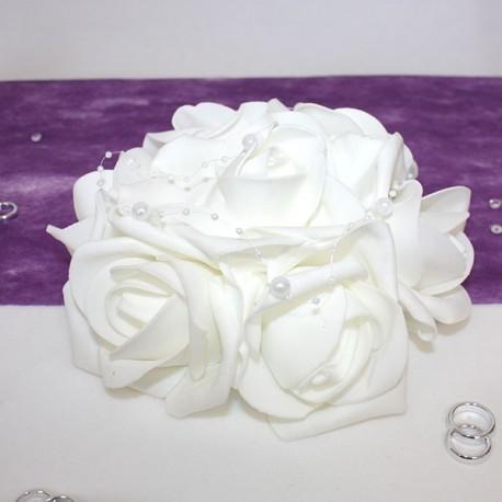 Petit Bouquet de fleurs centre de table blanc