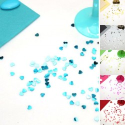 Confettis de table coeur brillant