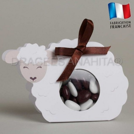 Ballotins à dragées en forme de mouton