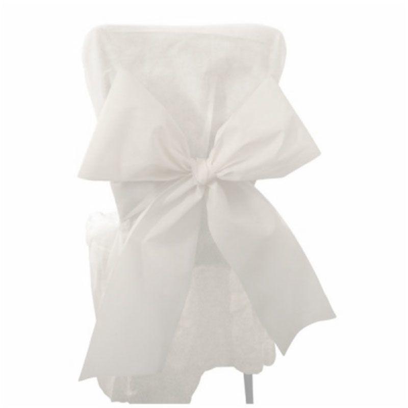 6 n uds de chaise blanc drag es anahita - Noeud de chaise espagnol ...
