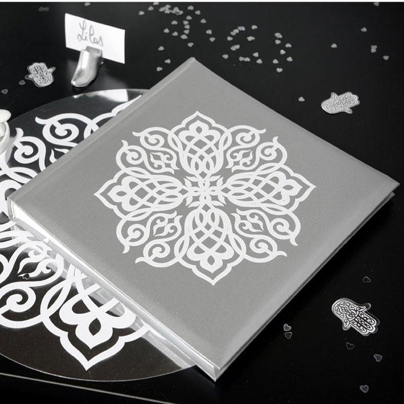 livre dor thme mariage oriental argent - Livre D Or Mariage Oriental