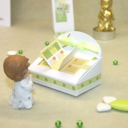Boite à dragées Bible vert