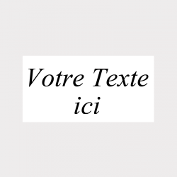 Etiquette rectangle transparente autocollante
