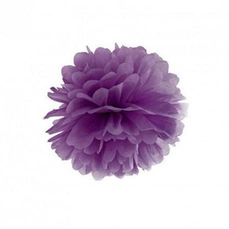 Pompon violet 25 cm