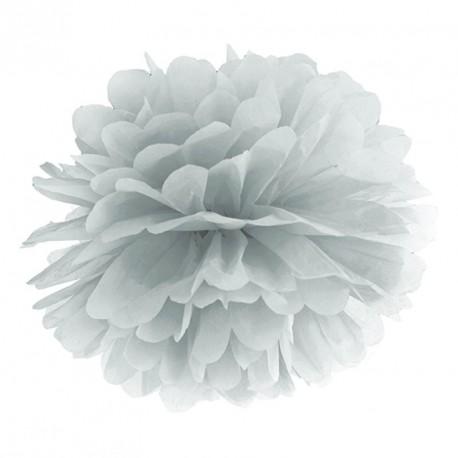 Pompon argent 35 cm