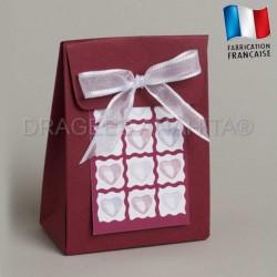Cube à dragées thème amour
