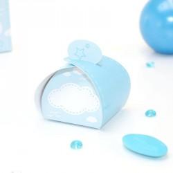 Mini boîte à dragées bleu naissance